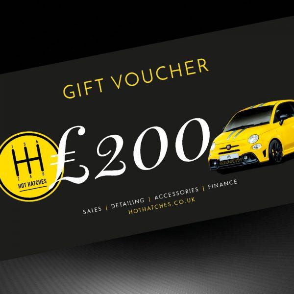 Hot Hatches Ltd Gift Voucher £200